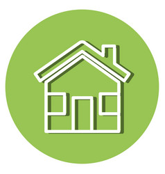 green house isolated icon vector image