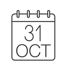 Halloween date linear icon vector