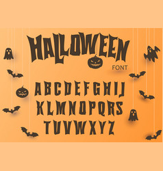 halloween font original typeface scary creepy vector image