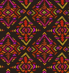 hand drawn seamless pattern with tribal abstract vector image