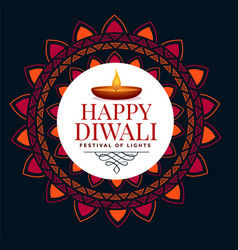 Happy diwali festival occasion background with vector