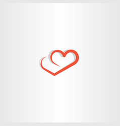 heart line logo icon love element vector image