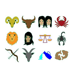 Horoscope icon set vector