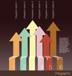 Infographics options banner with arrows vector image vector image
