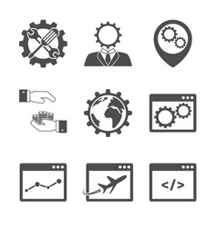 Internet marketing icons vector