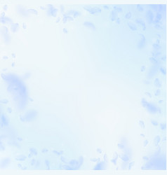 Light blue flower petals falling down classy roma vector