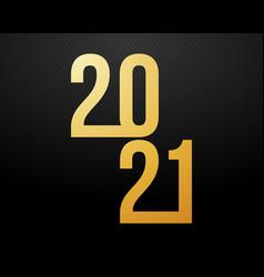 luxury 2021 happy new year elegant design vector image