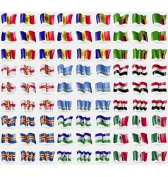 Moldova Andorra Zambia Guernsey Aruba Egypt Aland vector