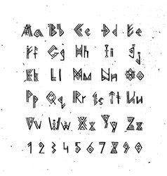 Old norse scandinavian font runic alphabet vector