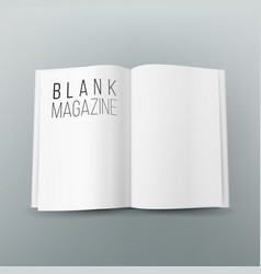 open magazine spread blank 3d realistic vector image