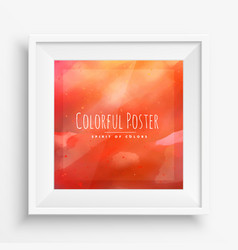 Orange colorful poster vector