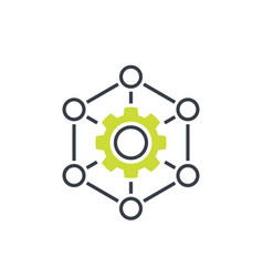 Outsourcing production icon on white vector
