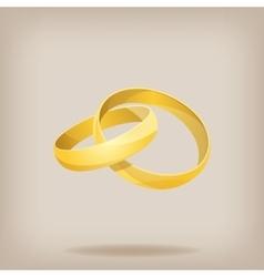 pair gold wedding rings vector image