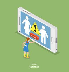 Parent control flat isometric concept vector