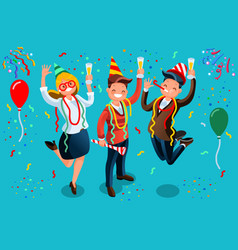 People celebrating party new year bash vector