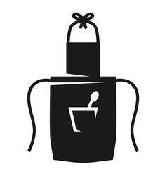 Pinafore with spoon in pocket icon simple style vector