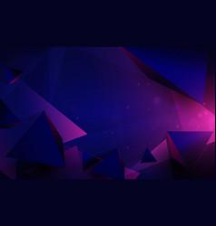Polygonal pyramids and technology futuristic vector