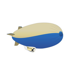 Retro air dirigible journey flat vector