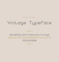 retro font line uppercase and lowercase letters vector image