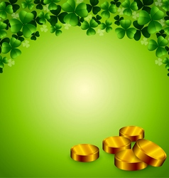 Saint Patrick background with coins vector image