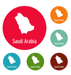 Saudi arabia map in black simple vector