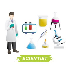 Scientist design element vector
