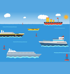 Sea or ocean cruise concept in flat style vector