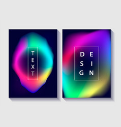 set of creative design posters vector image
