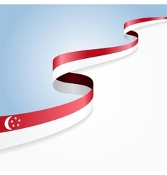 Singapore flag background vector