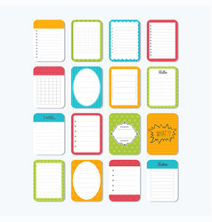 Template for notebooks cute design elements vector