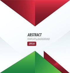 triangle design red and green color vector image