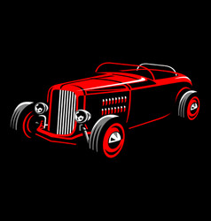 Vintage car 32 vector
