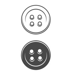 vintage sewing buttons concept vector image