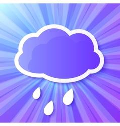 Violet paper cloud frame vector image