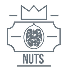 Walnut logo vintage style vector