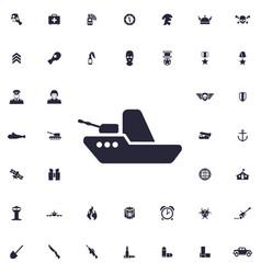Warship icon vector