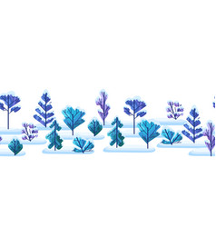winter pattern with trees vector image