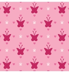 Butterflies and hearts vector
