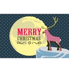 Christmas card with a deerme and easily editable vector image