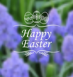 Easter muscary blur vector