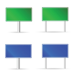 green and blue traffic road sign vector image