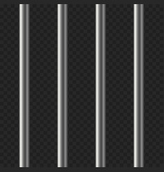 realistic prison bars on transparent background vector image vector image