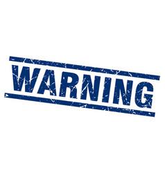 Square grunge blue warning stamp vector