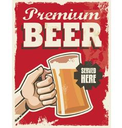 Vintage style beer sign - poster banner design vector