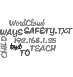 ways to teach child safety text word cloud concept vector image