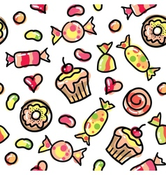 funny candies vector image