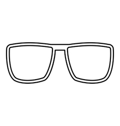 Glasses icon outline style vector image