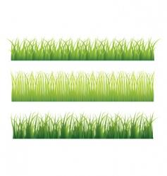 grass borders vector image