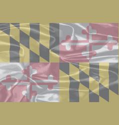 Maryland state silk flag vector
