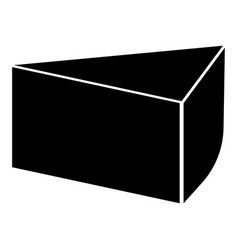 piece of cake the black color icon vector image